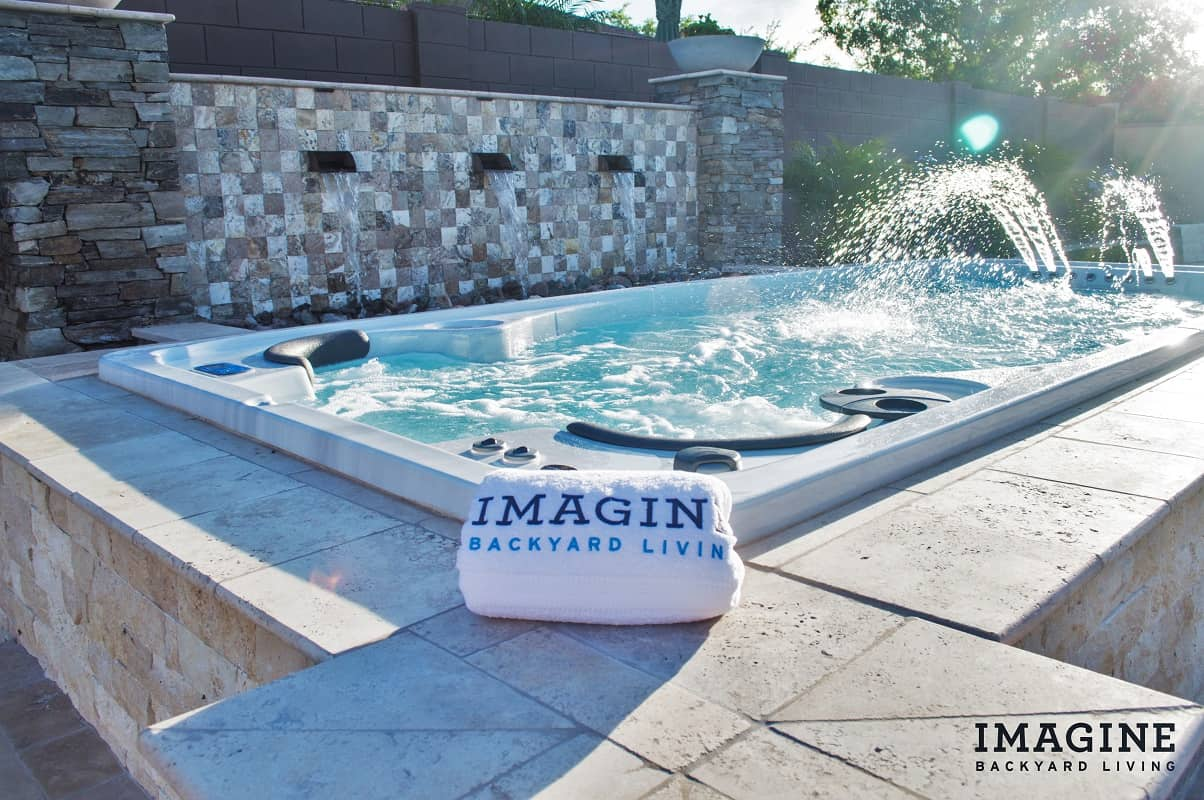 Jacuzzi Pool Installation Why You Should Want A Swim Spa Imagine Backyard Living