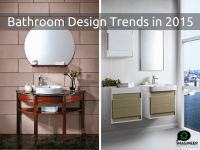 Bathroom Remodeling Design Trends for 2015