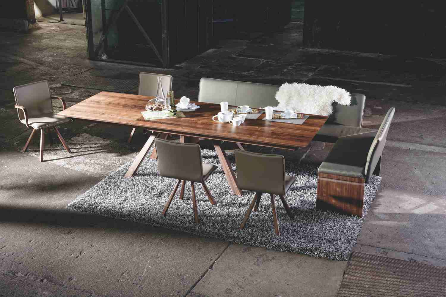 Table Noyer Design Loft Bench And Corner Bench