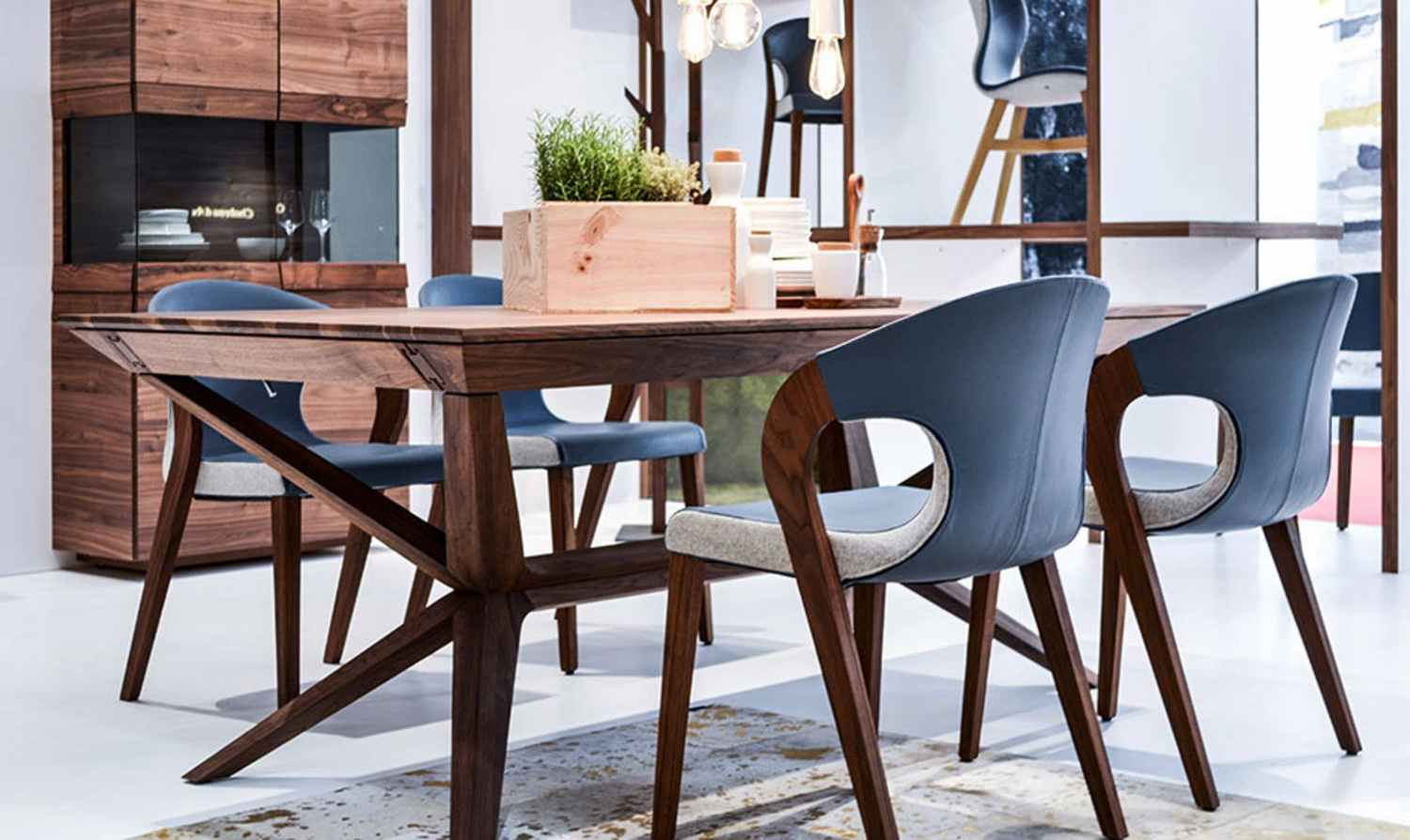 Table Noyer Design Organo Dining Table