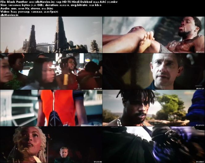 Screen Shots Black Panther 2018 Full HD Movie Download Hindi Dubbed 720p