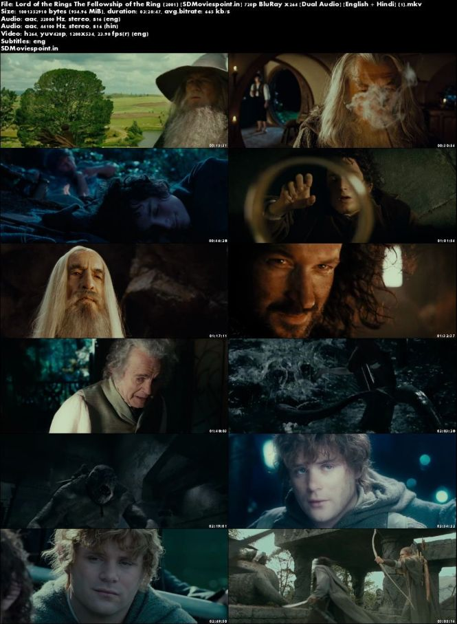 Poster The Lord of the Rings The Fellowship of the Ring 2001 Full HD Movie Download Dual Audio Free