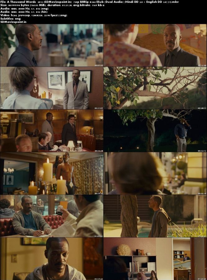 Screen Shots A Thousand Words 2012 Full HD Movie Download Dual Audio Free