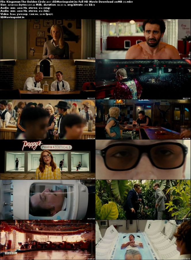 Screen Shots Kingsman: The Golden Circle 2017 300MB Movie Download Dual Audio HD Free