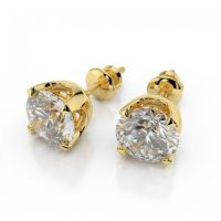Stunning 1/2 Cts Round Brilliant Cut Natural Diamonds Stud ...