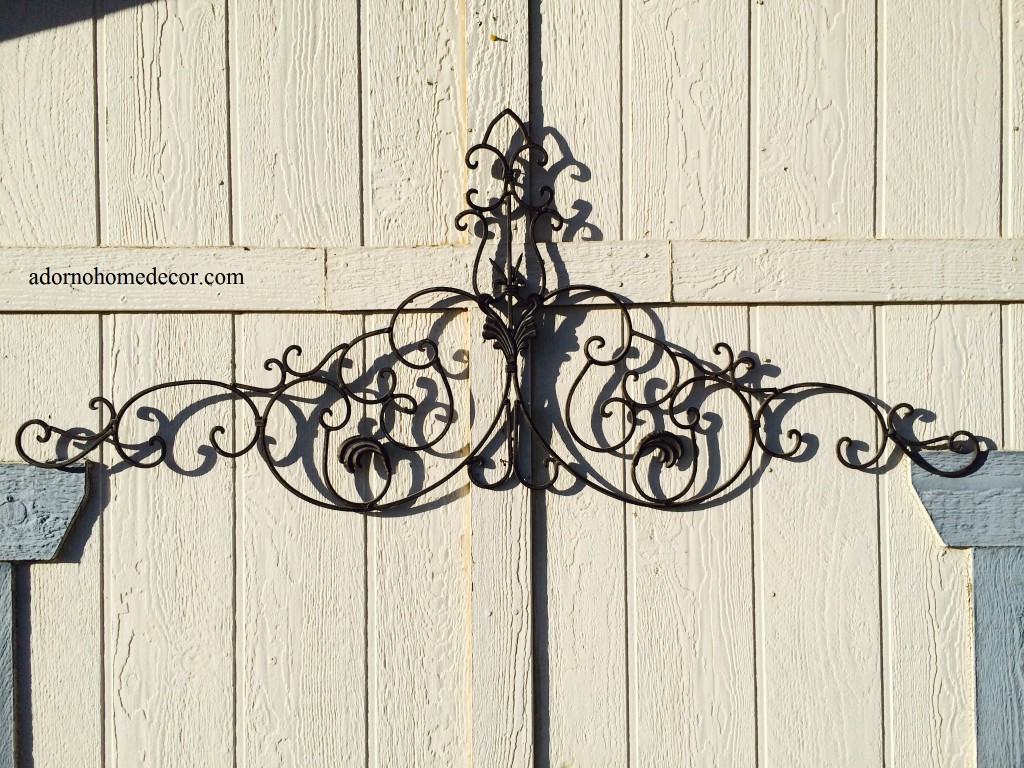 Rustic Outdoor Metal Wall Art Large Tuscan Wrought Iron Metal Wall Decor Rustic Antique