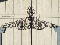 Large Tuscan Wrought Iron Metal Wall Decor Rustic Antique ...
