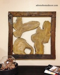 Rustic Reclaimed Teak Abstract Wood Sculpture Tree Slice ...