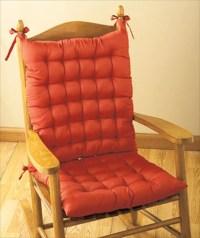 Rocker Chair Cushions Kitchen Rocking Seat Tie Back ...