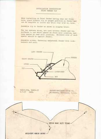 Drill templates for sargent stripes, saddlebag hanger plates, fender