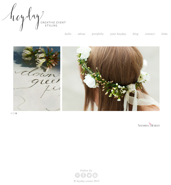 Web Design Artists heyday-website