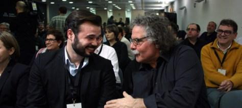 Els diputats al congrés espanyol, Gabriel Rufián i Joan Tardà.