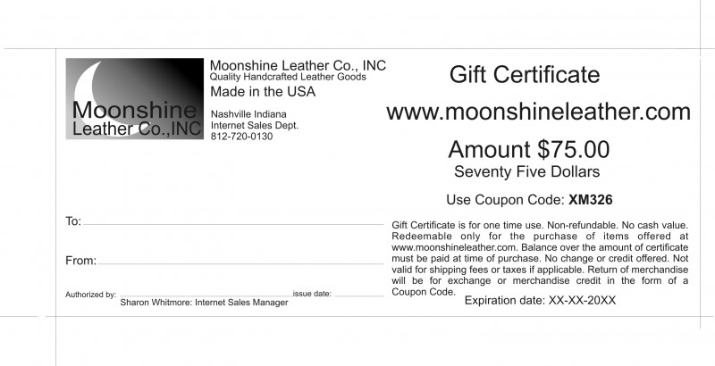 Gift Certificate Wording No Cash Value - Gift Ideas