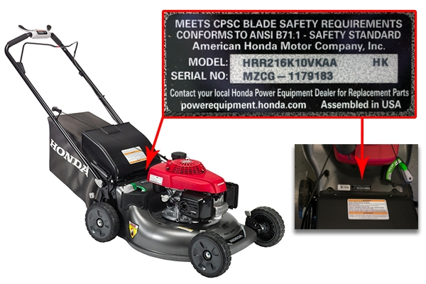 Find My Model Number - Mower Shop Products