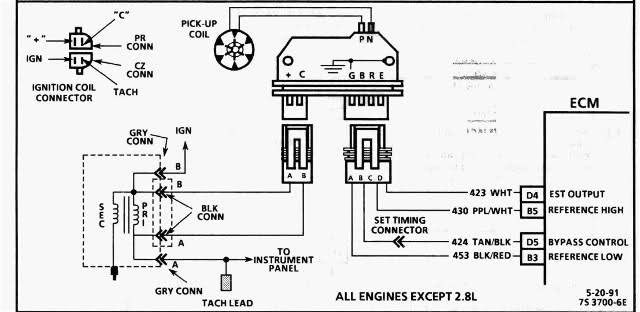 hei distributor module wiring diagram engine vacuum line diagram