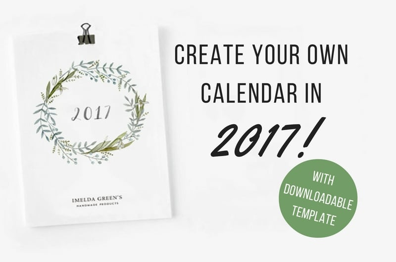 Draw your own calendar in 2017! (with downloadable template