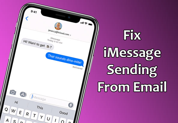 Fix iMessage sending from Email Address instead of Phone Number