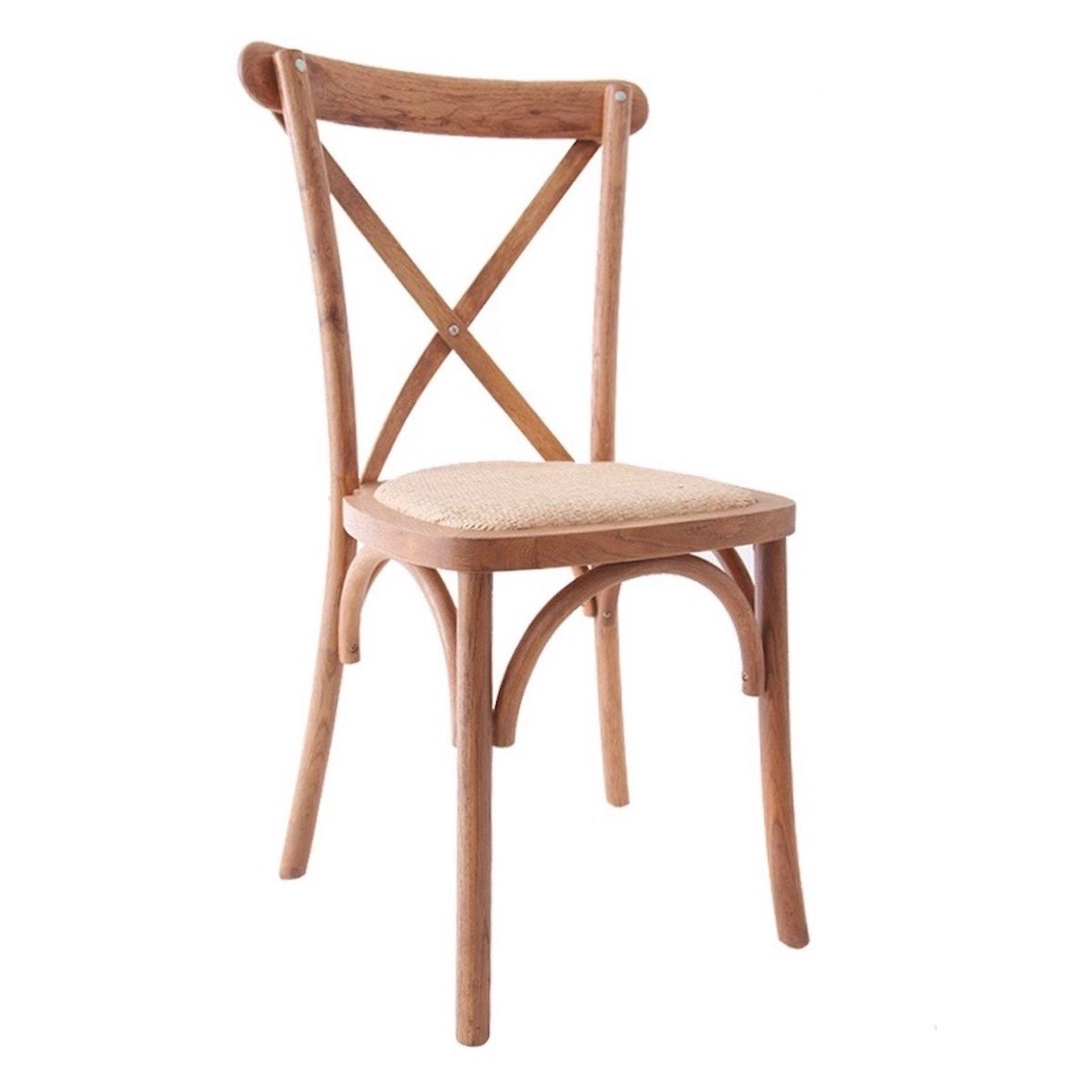 Chaises De Reception Chaise Cross Back Assise Rotin Tressé