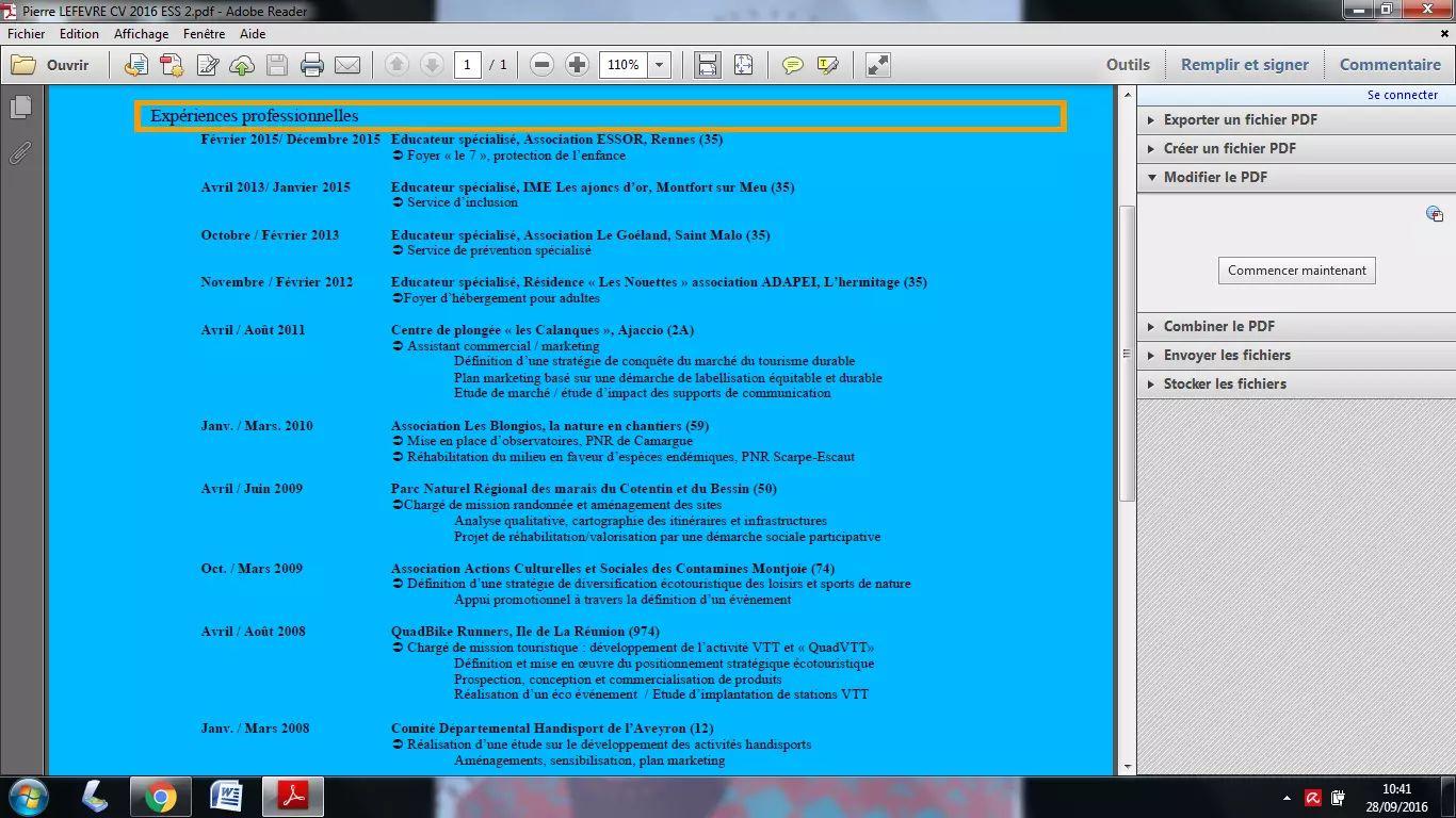 comment transformer un cv word en pdf