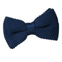 Navy Blue Knit Knitted Pre-Tied Bow Tie | Fruugo