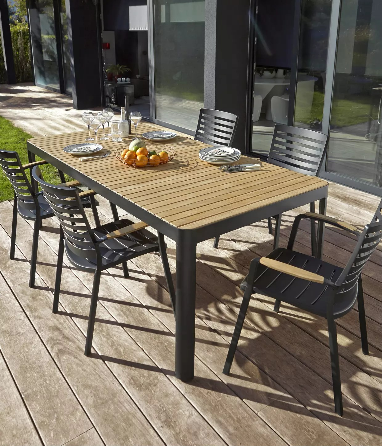 Chaise Blooma Tables De Jardin Castorama Unglaublich Castorama Table De