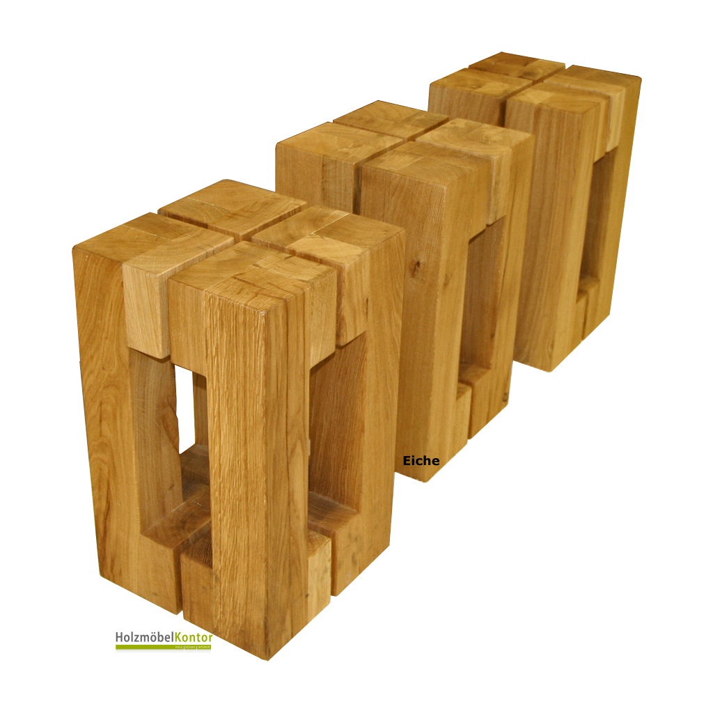 Couchtisch Altholz Eiche Holz-hocker Eiche Massiv - Modernes Design