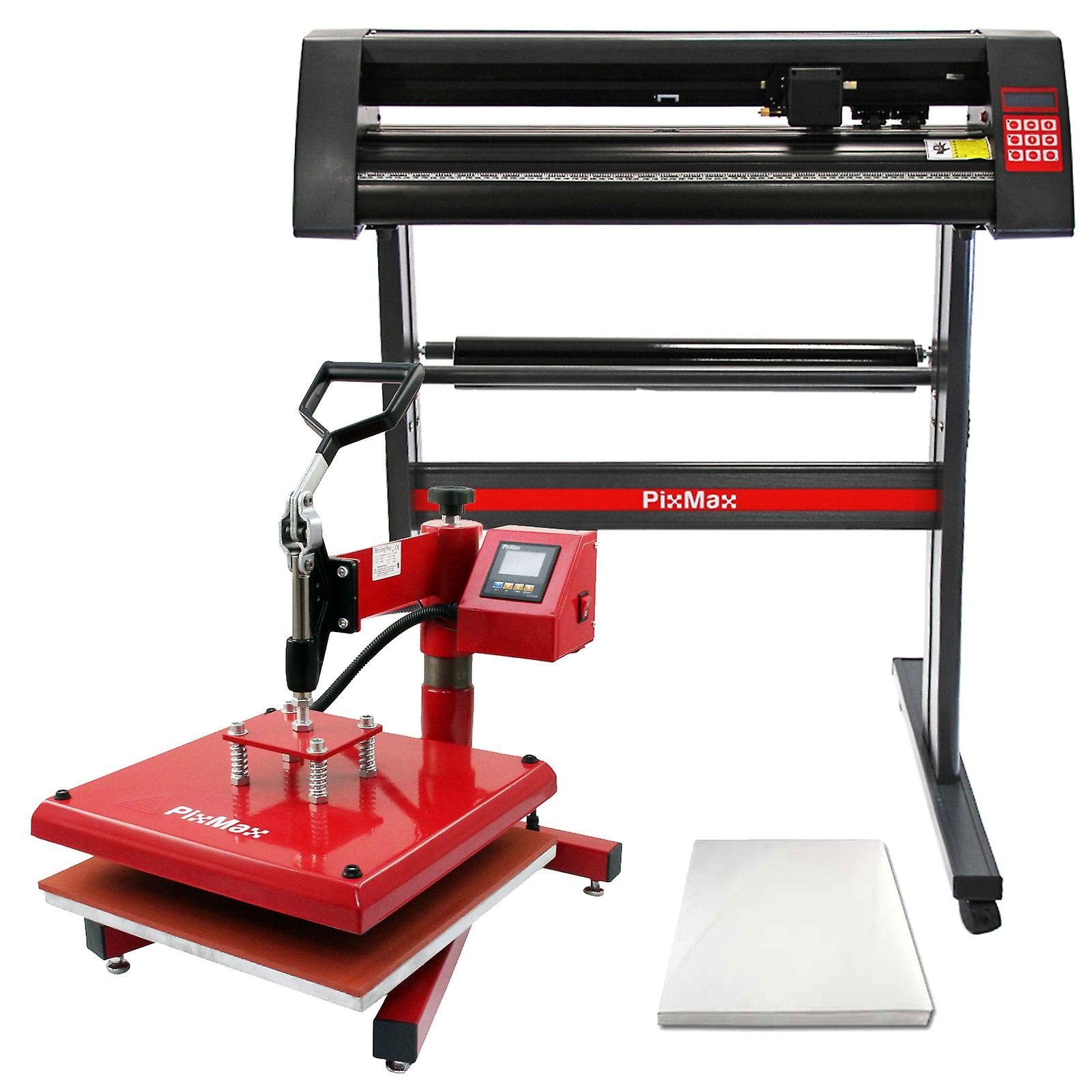 Sublimation Press Pixmax 38cm Swing Heat Press Vinyl Cutter Printer