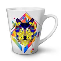 Colourful Wolf Shape NEW White Tea Coffee Ceramic Latte ...