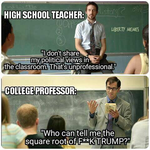 Political biases of high school vs college professors IGN Boards