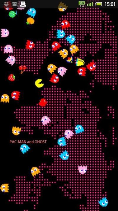 PAC - MAN Live Wallpaper Android App : NAMCO BANDAI Games