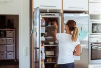How to Stop a Refrigerator Door From Hitting the Wall When ...