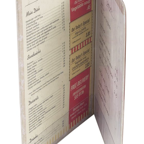 How to Create a Menu for a Restaurant Using OpenOffice Your Business - how to make a menu for a restaurant