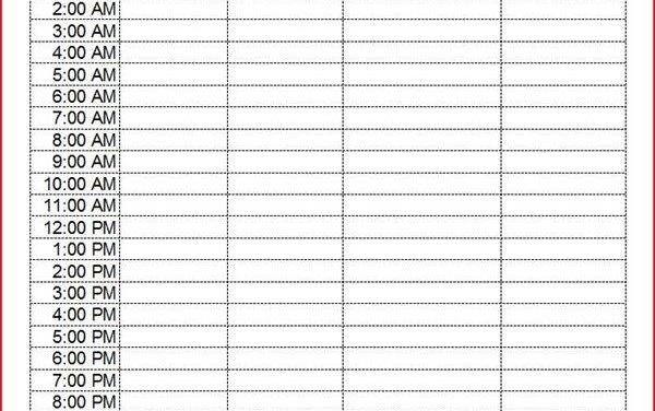Cómo crear un calendario semanal de 24 horas con Excel Techlandia