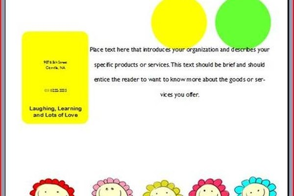 Make a Free Daycare Flyer It Still Works