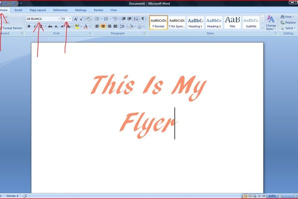 How to Make a Flyer on Microsoft Word 2007 It Still Works