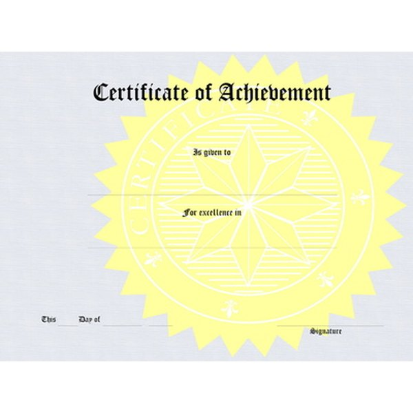 How to Make Certificates for Fundraisers Synonym - make a certificate in word