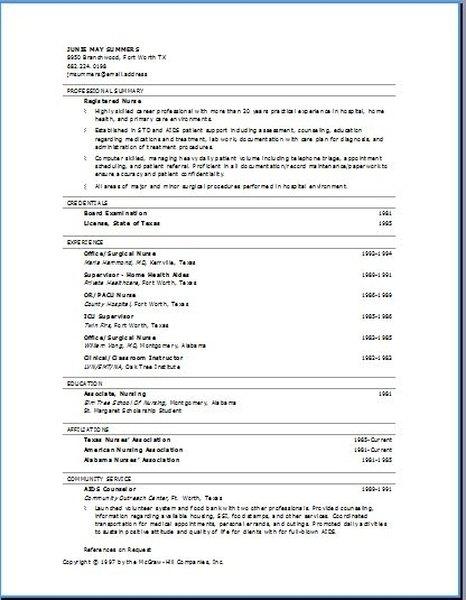 Proper Resume Formats Career Trend