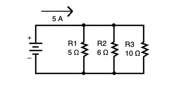 in the above circuit voltage across the each resistance can be