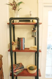 How to Make PVC Book Shelves   eHow