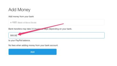 How to Add Money to a PayPal Account (with Pictures)   eHow