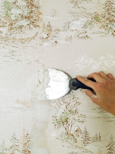 How to Easily Apply Paint Over Hard to Remove Wallpaper   eHow