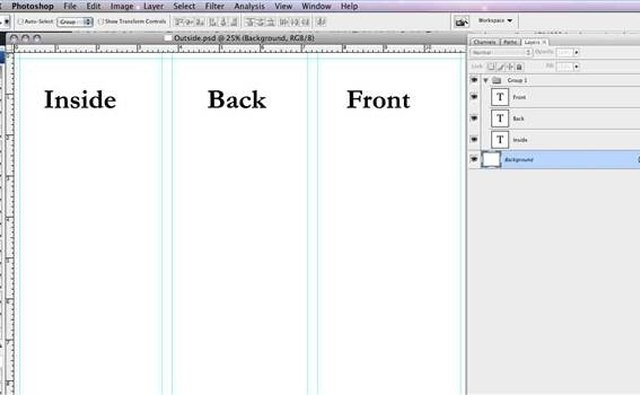 How to Make a Tri-Fold Brochure in Photoshop It Still Works - create tri fold brochure