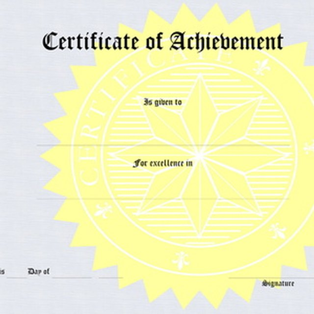 How to Make Church Certificate Awards Synonym