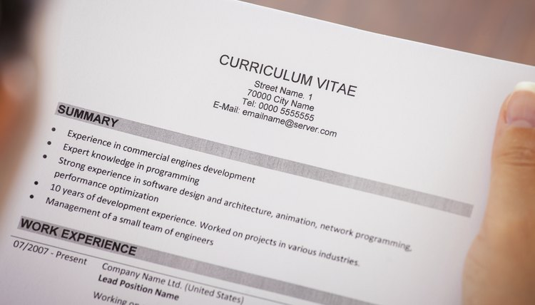 What Type of Paper Should a Resume Be Printed On? Career Trend - type a resume