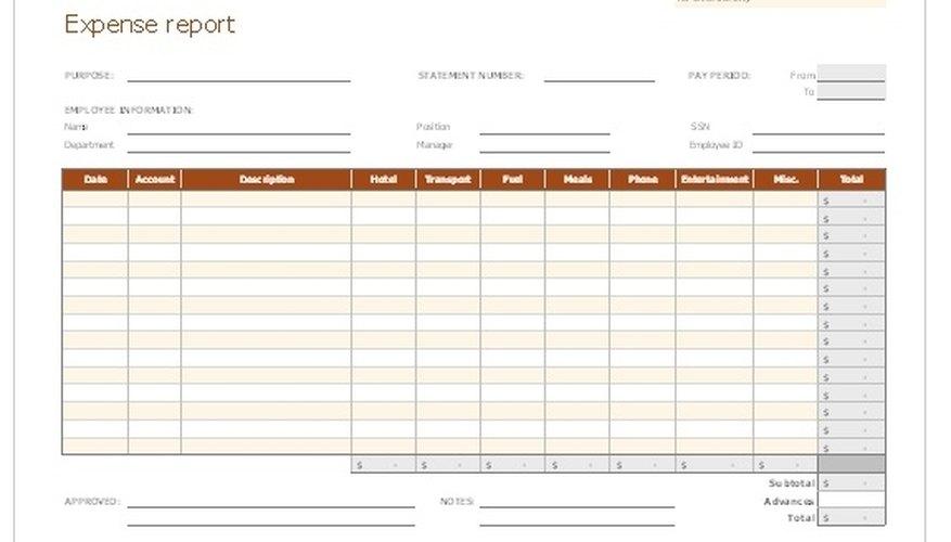 Cómo crear informes de gastos en Excel Cuida tu dinero