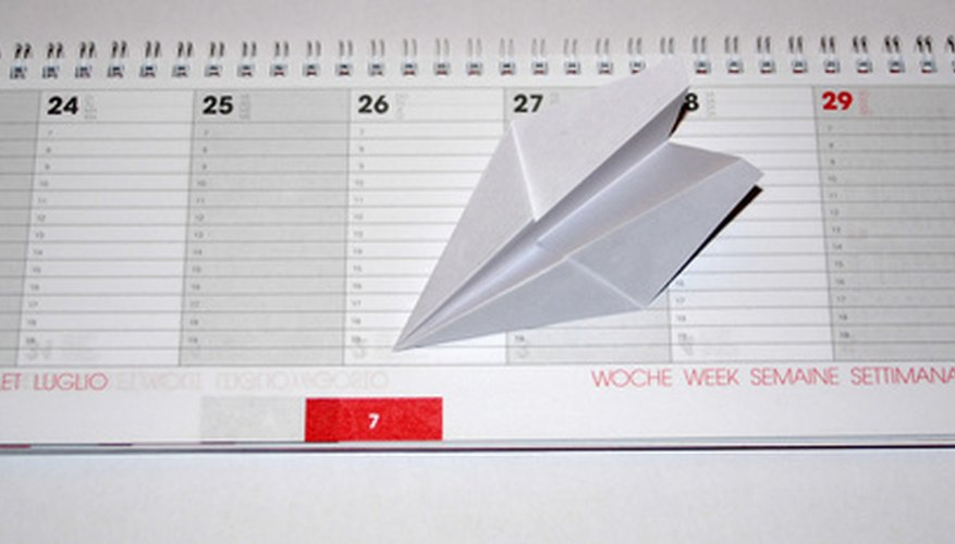 How to Create a Schedule Template Bizfluent