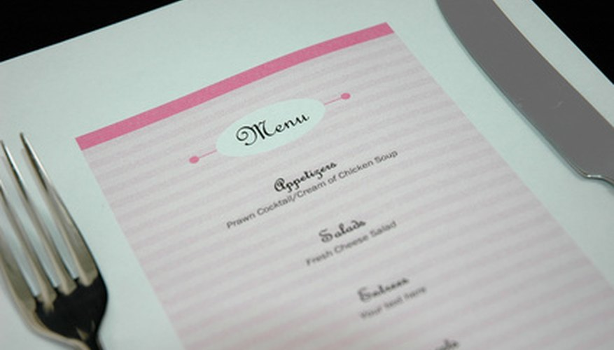 How to Create a Menu for Your Restaurant Bizfluent - how to make a menu for a restaurant