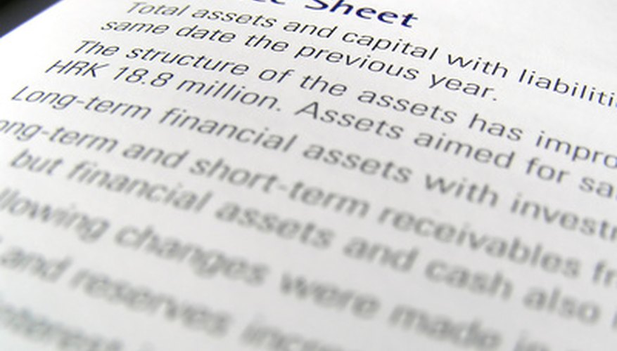 How to Calculate a Common Size Balance Sheet Bizfluent - how to prepare a balance sheet