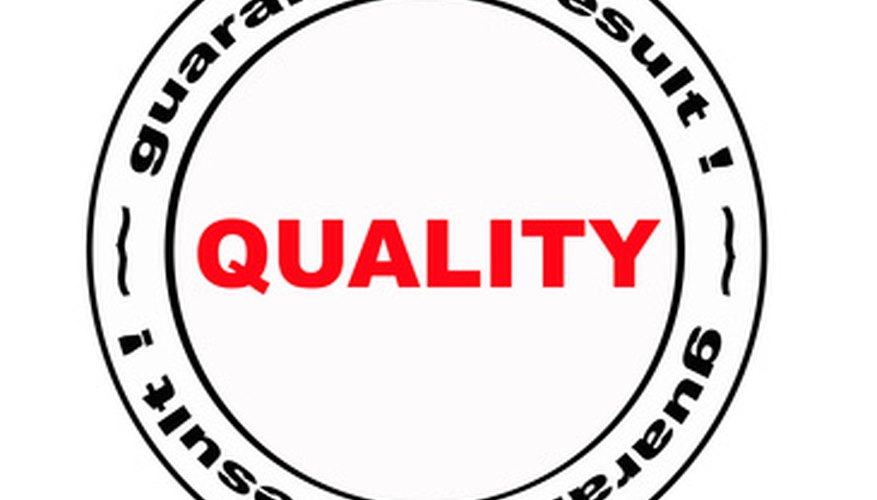 How to Develop a Quality Control Plan Bizfluent