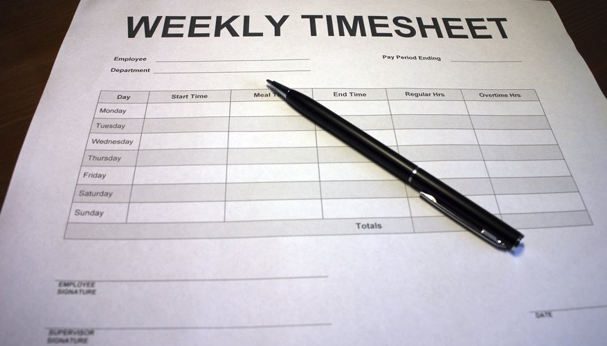 How to Keep Track of Employee Hours Bizfluent